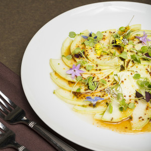 Heirloom grey griller squash carpaccio!