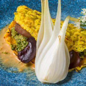 Vegetarian Vietnamese crepe